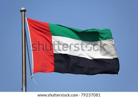 Flag of United Arab Emirates - stock photo