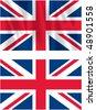 Flag of United Kingdom - stock photo