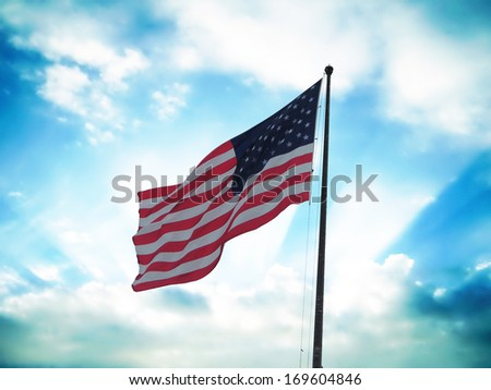 Flag of United States of America. - stock photo