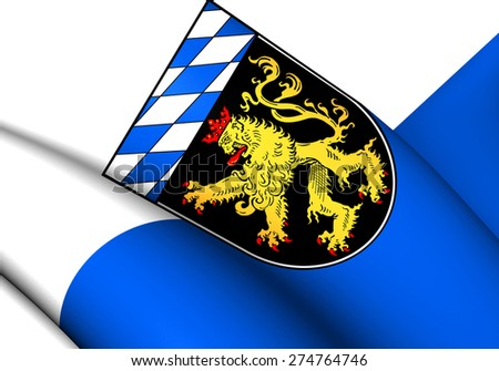 Flag of Upper Bavaria, Germany. Close Up. - stock photo