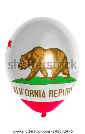 flag of us state of california balloon - stock photo