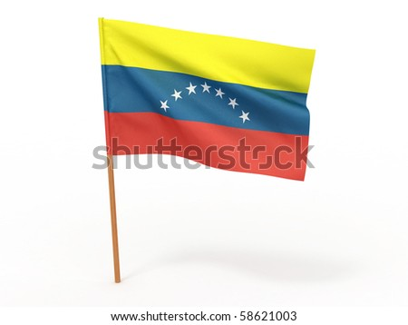 Flag of venezuela . 3d - stock photo