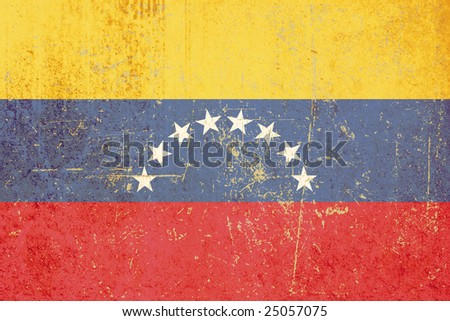 flag of venezuela grunge - stock photo