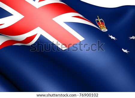 Flag of Victoria, Australia. Close-up.