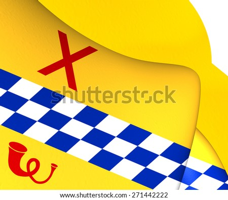 Flag of Woerden, Netherlands. Close Up. - stock photo