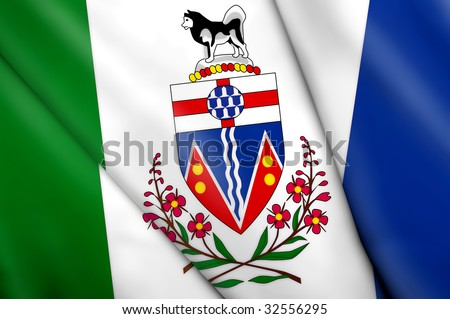Flag of Yukon (Canada) - stock photo