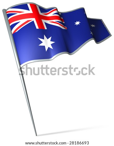 Flag pin - Australia - stock photo