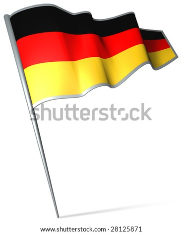 Flag pin - Germany - stock photo