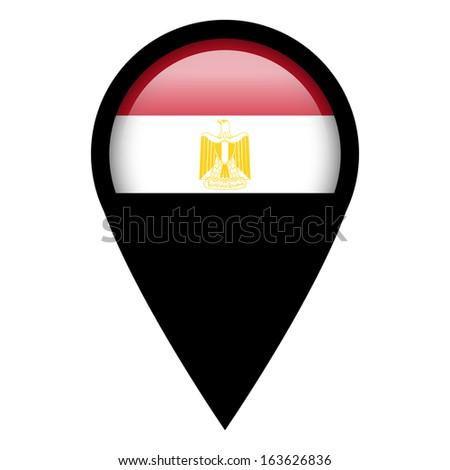 Flag pin illustration - Egypt - stock photo