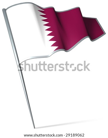 Flag pin - Qatar - stock photo