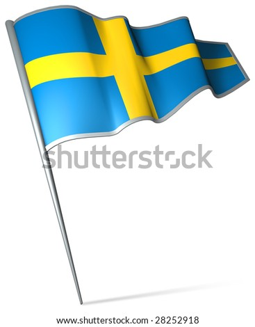 Flag pin - Sweden - stock photo