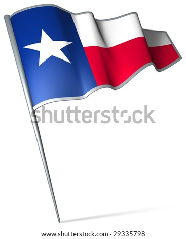Flag pin - Texas (USA) - stock photo