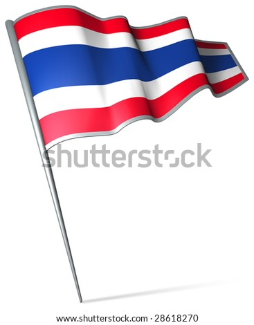 Flag pin - Thailand - stock photo