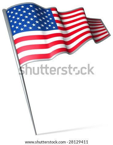 Flag pin - USA - stock photo