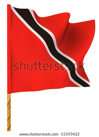Flag. Trinidad and Tobago. 3d