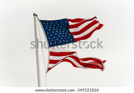 Flag, USA divided 1 - stock photo