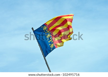 Flag waving in wind