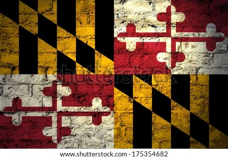 Flags from the states of the  USA ; the flag of maryland - stock photo