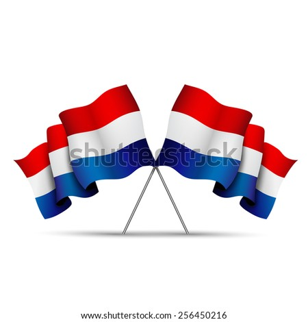 Flags Netherlands - stock photo
