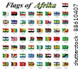 Flags of Africa - stock vector