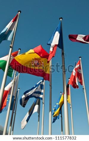 Flags of European States - stock photo