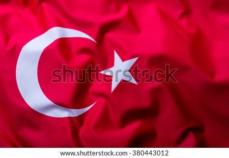Flags of the Turkey and the European Union. Turkey Flag and EU Flag. World flag money concept. - stock photo
