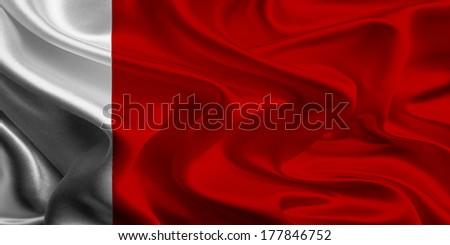 Flags of UAE Emirates : Dubai and Ajman - stock photo