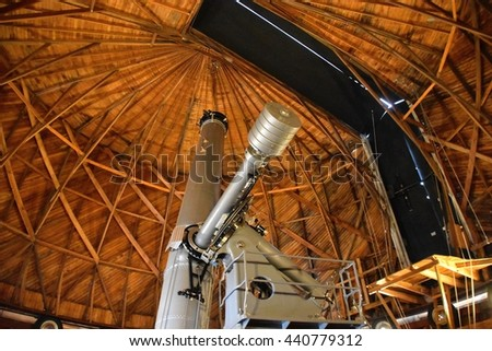 FLAGSTAFF, AZ - JUNE 12: Lowell Observatory at Flagstaff, AZ on June 12, 2016. Famous observatory in Arizona founded by Percival Lowell.  - stock photo