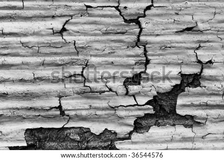 flaky siding - stock photo