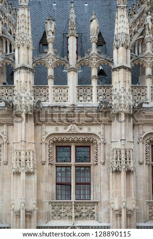 Flamboyant style of Palais de Justice in Rouen