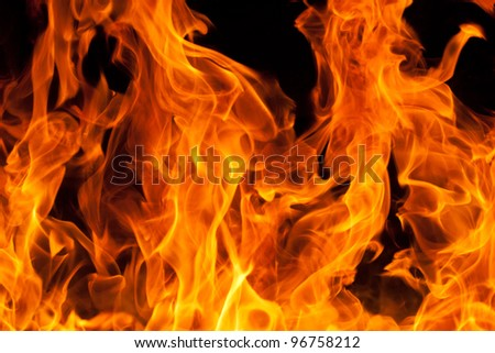 flame background - stock photo