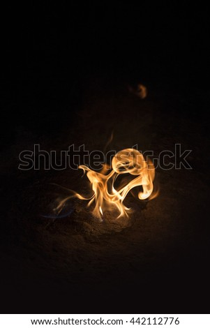 Flame black background