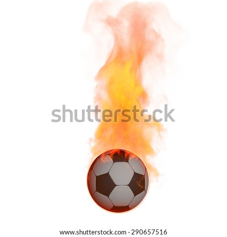 Flame ,cg - stock photo