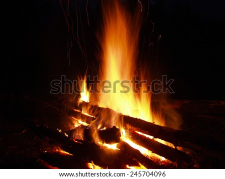 Flame close up - stock photo