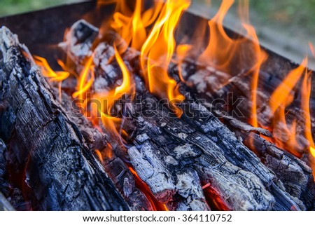 Flame, Fire - Natural Phenomenon, Coal, Bonfire, Log Fire