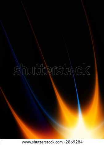 flame fractal - stock photo