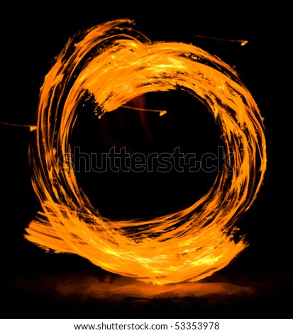 Flame in the night - stock photo