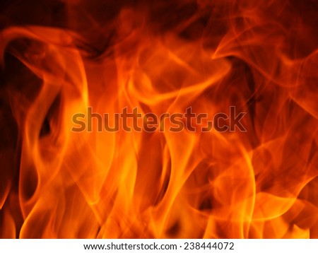 Flame of fire. - stock photo