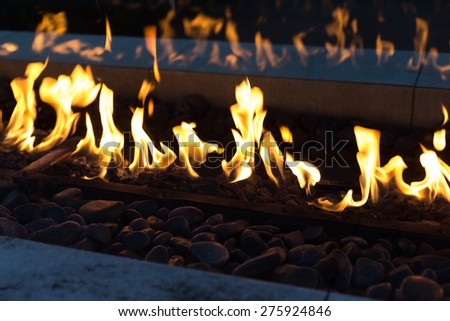 flame of fire with dark background  - stock photo