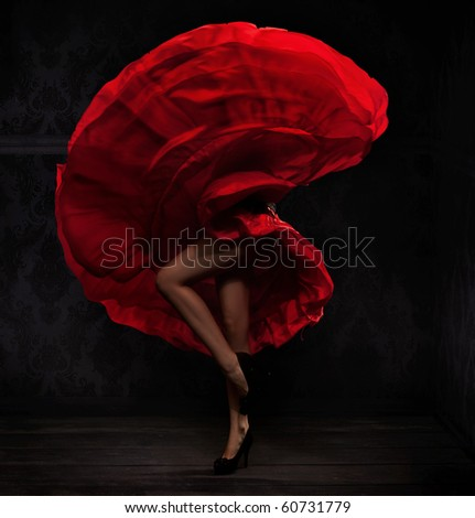 Flamenco dancer - stock photo