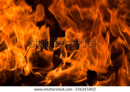 Flames from the burning, blaze fire flame texture background.  - stock photo