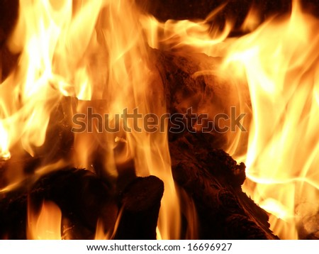 Flames or fire for background