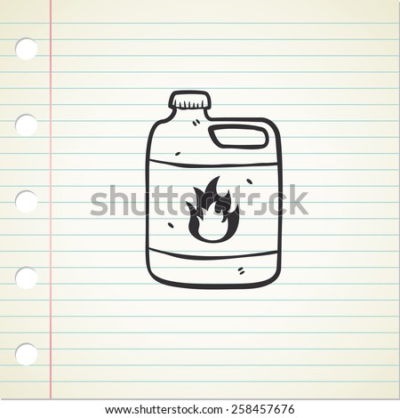 flammable chemical - stock photo