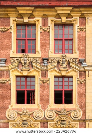 Flanders style Windows in Lille, France