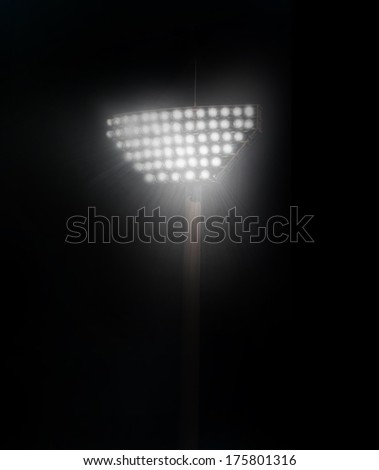 flare effect  and  stadium in lights - stock photo