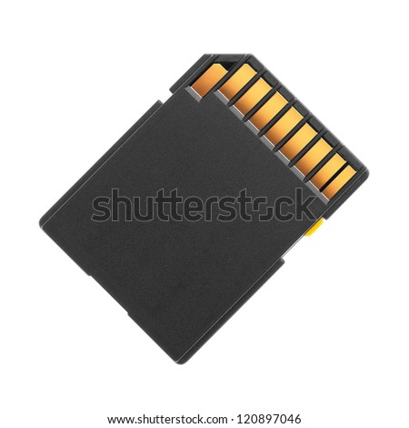 Flash card on a white background - stock photo