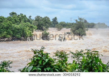 Flash flood  - stock photo
