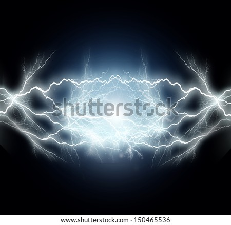 flash of electric light. - stock photo