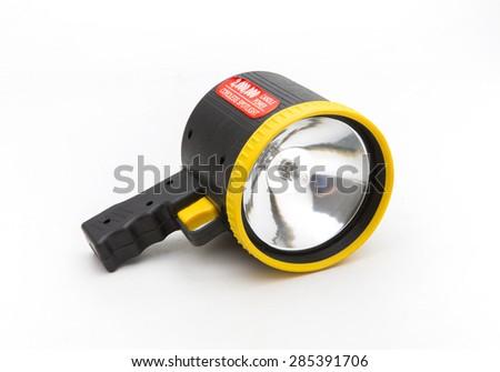 flashlight isolated on white - stock photo