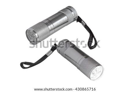 flashlight isolated on white background - stock photo